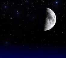 Mond am Nachthimmel
