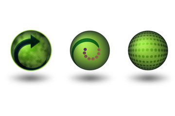 Green Friendly 3D Icons