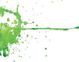 Green blot, vector poster