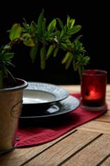 Jantar romântico no extterior