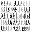 silhouettes en marche