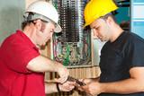 Electricians Repair Circuit Breaker poster