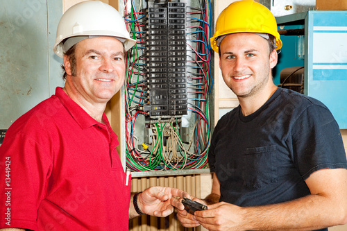 Friendly Electricians at Work
