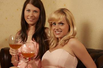 two women - drinks
