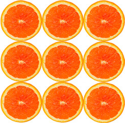 Collection of orange cross-sections