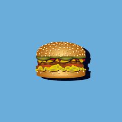 Burger auf Hintergrund