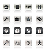 Realistic Business and Internet Icons - Vector Icon Set poster