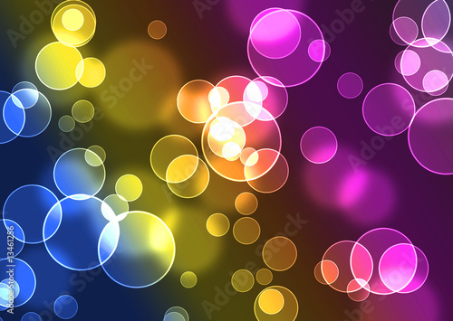 Colored bubbles background