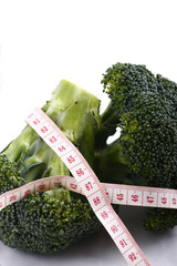 Broccoli and measuring tape