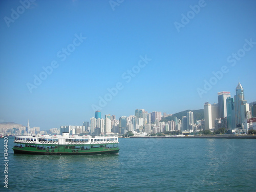 Star Ferry at Victoria Harbour, Hong Kong, China