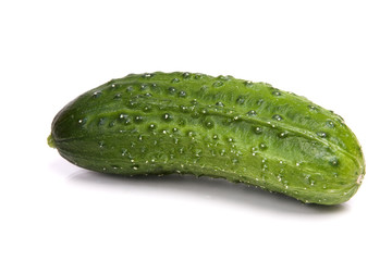 Cucumber isolated on white.