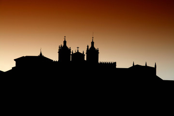 sunset in viseu