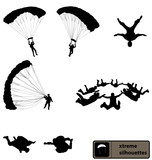 skydiving silhouettes collection