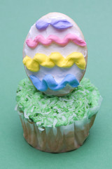 Easter Cupcake on Green