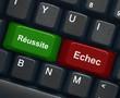 """""""Réussite"""" & """"Echec"""" keys on keyboard"""