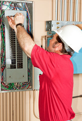 Master Electrician Working