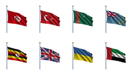 World Flag Set 24