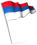 Flag pin - Serbia poster