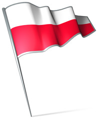 Flag pin - Poland