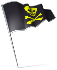Flag pin - pirate skull