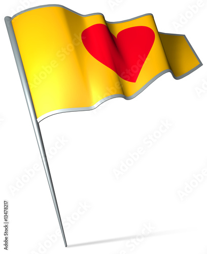 Flag pin - Love