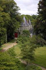Chateau de Josselin, scorcio del giardino