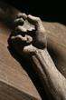 Leinwandbild Motiv Christus am Kreuz - Hand