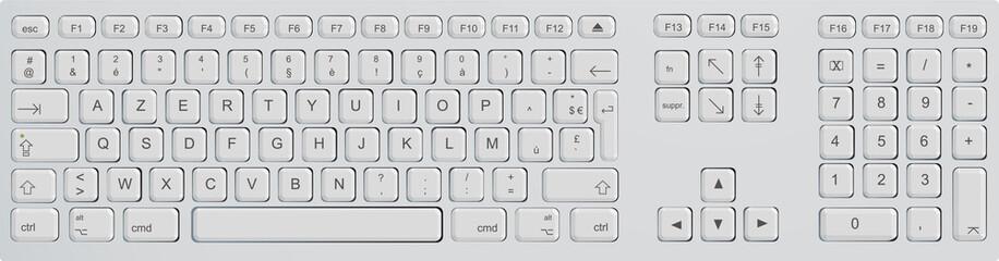 Clavier d'ordinateur - azerty