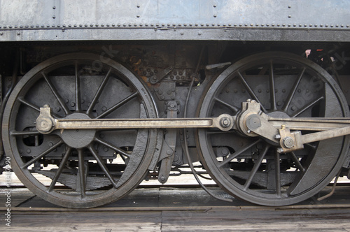 drive wheels from Swedish steam train