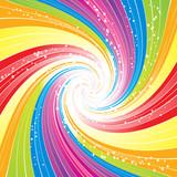 psychedelic rainbow swirl poster