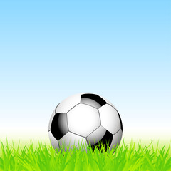 football and grass