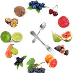 orologio di frutta