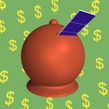 Moneybox solar panels poster