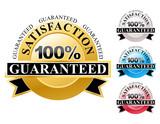 100% Satisfaction Guaranteed Icons Set poster