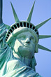 The closeup of the Statue of Liberty