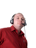 man - consultant with headset poster