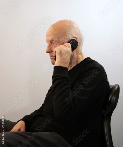 Senior on Cordless Phone