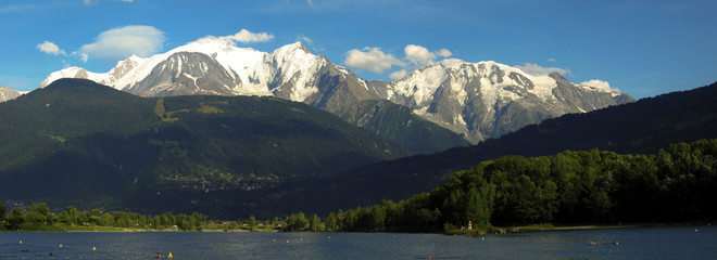 Mont Blanc mountain range panorama