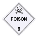 Poison Warning Placard poster