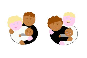famiglie di diversa etnia