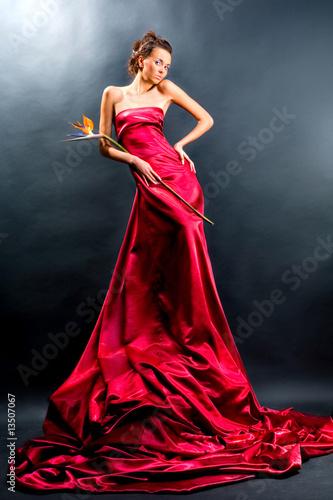 Красном длинном платье порно 71217 фотография