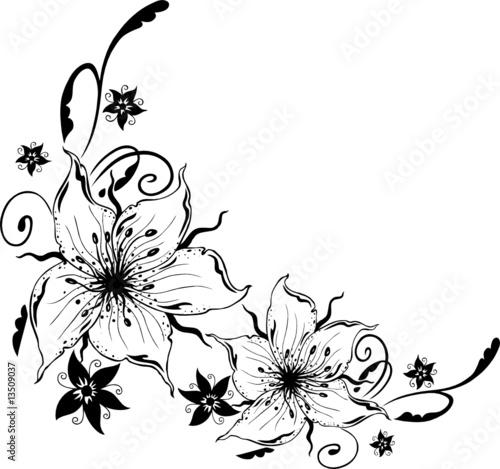 feminin tattoo. Lilien, filigran und feminin