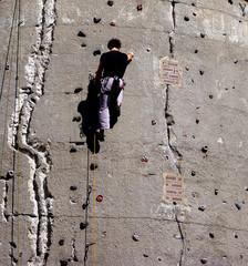 Bergsteiger an Wand