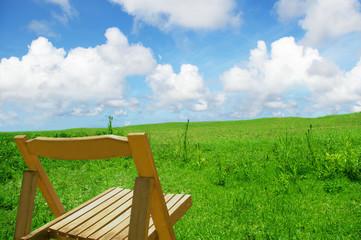 のんびりとした草原