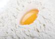 egg with flour