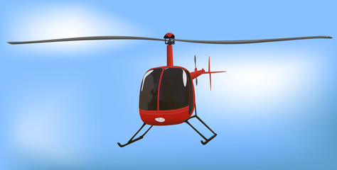 Small News or Traffic Helicopter