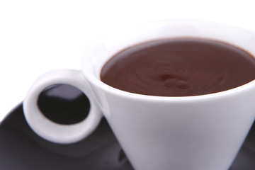 hot chocolate drink close up