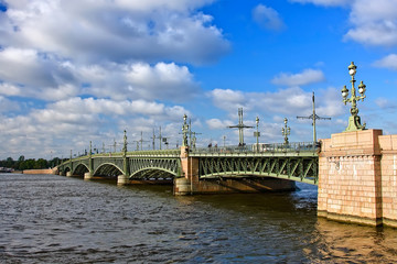 Troitsky Bridge, St.Petersburg, Russia