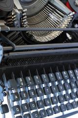 clavier mécanique d'une machine à écrire