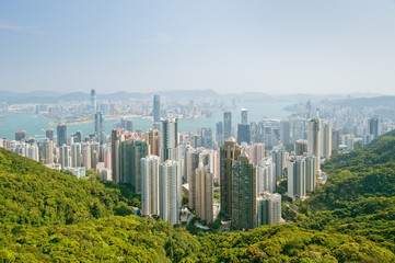panorama of hong kong